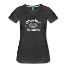 Load image into Gallery viewer, Women's Chasing Waterfalls T-Shirt - charcoal gray