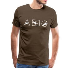 Load image into Gallery viewer, Men's Horse Symbols (solid) T-Shirt - noble brown