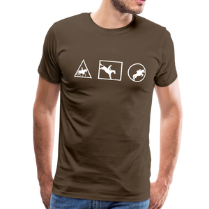 Men's Horse Symbols (solid) T-Shirt - noble brown
