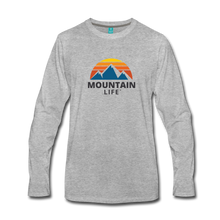 Load image into Gallery viewer, Men's Mountain Life Long Sleeve Shirt - heather gray
