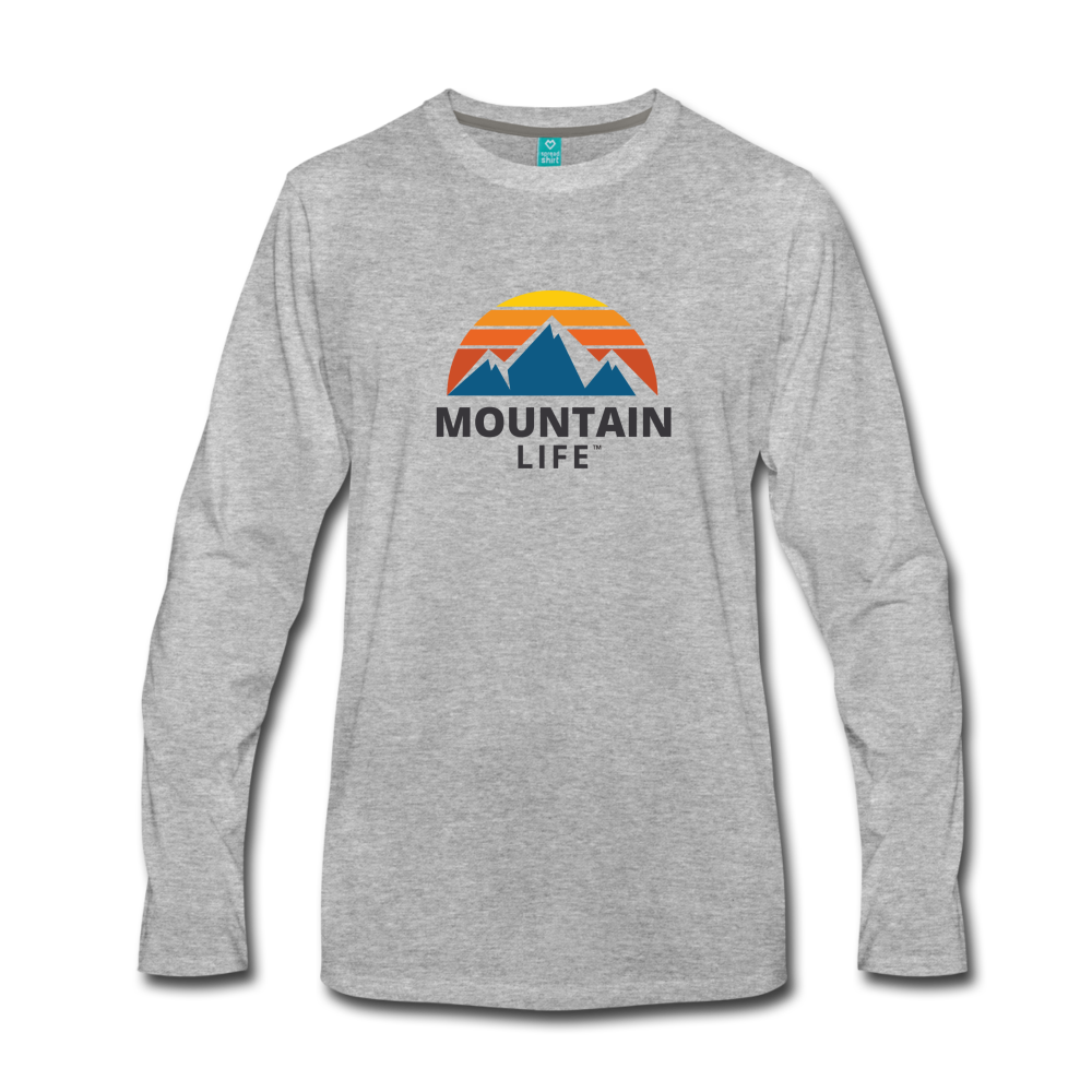 Men's Mountain Life Long Sleeve Shirt - heather gray
