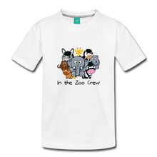 Load image into Gallery viewer, Toddler In the Zoo Crew T-Shirt - white