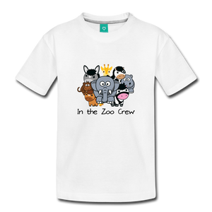 Toddler In the Zoo Crew T-Shirt - white