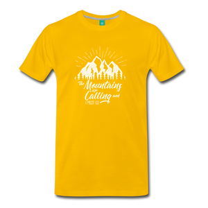 Men's Mountains T-Shirt (white) - sun yellow