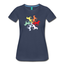 Load image into Gallery viewer, Women's Rainbow Horse Circle T-Shirt - navy