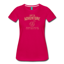 Load image into Gallery viewer, Women's Enjoy the Adventure T-Shirt - dark pink