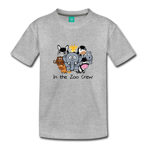 Toddler In the Zoo Crew T-Shirt - heather gray