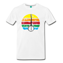 Load image into Gallery viewer, Men's Banjo Rainbow T-Shirt - white