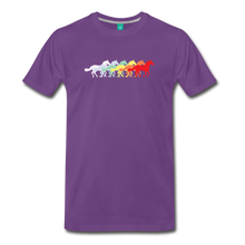 Load image into Gallery viewer, Men's Retro Rainbow Horse T-Shirt - purple