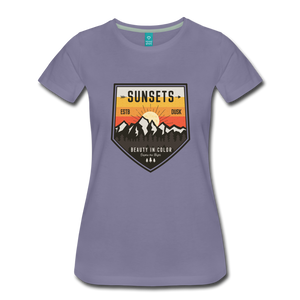 Women's Sunset T-Shirt - washed violet