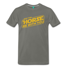 Load image into Gallery viewer, Men's May The Horse be with You T-Shirt - asphalt