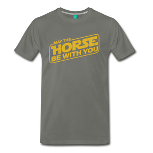 Men's May The Horse be with You T-Shirt - asphalt