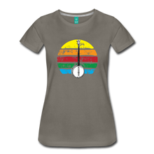 Load image into Gallery viewer, Women's Banjo Rainbow T-Shirt - asphalt