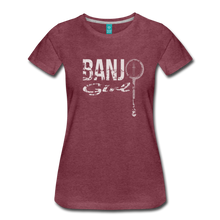 Load image into Gallery viewer, Women's Banjo Girl T-Shirt - heather burgundy