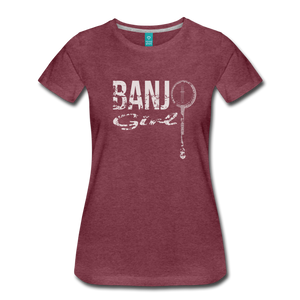 Women's Banjo Girl T-Shirt - heather burgundy
