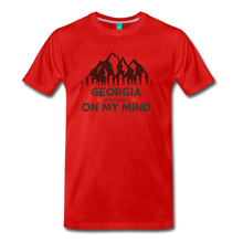 Load image into Gallery viewer, Men's Georgia on my Mind T-Shirt - red