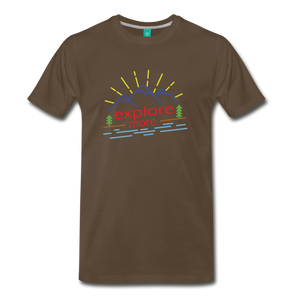 Men's Colored Explore More T-Shirt - noble brown
