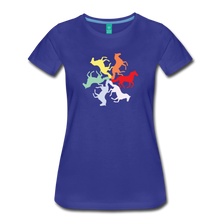 Load image into Gallery viewer, Women's Rainbow Horse Circle T-Shirt - royal blue
