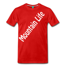 Load image into Gallery viewer, Men's Diagonal Mountain Life T-Shirt - red