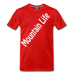 Men's Diagonal Mountain Life T-Shirt - red
