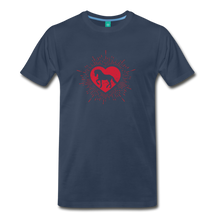 Load image into Gallery viewer, Men's Sunburst Heart Horse T-Shirt - navy