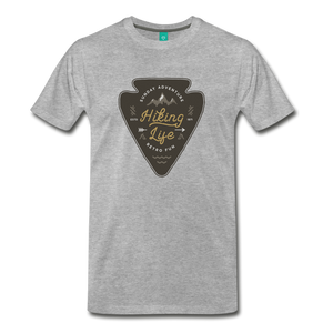 Men's Hiking Life T-Shirt - heather gray