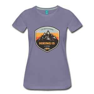 Women's Hiking T-Shirt - washed violet