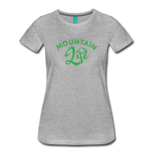 Load image into Gallery viewer, Women's Mountain Life (script) T-Shirt - heather gray