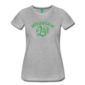 Women's Mountain Life (script) T-Shirt - heather gray
