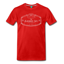 Load image into Gallery viewer, Men's The Bluegrass Cafe (music is life) T-Shirt - red