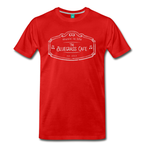 Men's The Bluegrass Cafe (music is life) T-Shirt - red