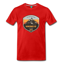 Load image into Gallery viewer, Men's Hiking T-Shirt - red
