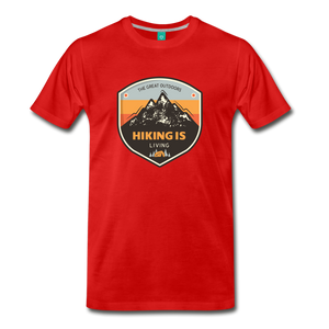 Men's Hiking T-Shirt - red