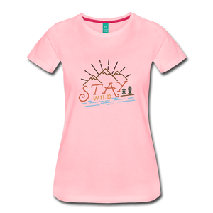 Women's Stay Wild T-Shirt - pink
