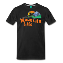 Load image into Gallery viewer, Men's 60s Mountain T-Shirt - black