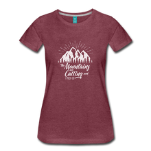 Load image into Gallery viewer, Women's Mountains T-Shirt (white) - heather burgundy