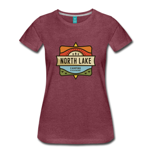 Women's North Lake T-Shirt - heather burgundy