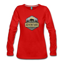 Load image into Gallery viewer, Women's Adventure Life Long Sleeve Shirt - red
