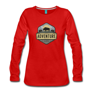 Women's Adventure Life Long Sleeve Shirt - red