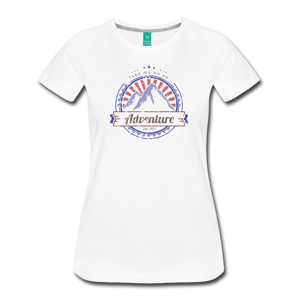 Women's Take me on an Adventure T-Shirt - white