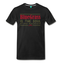 Load image into Gallery viewer, Men's Bluegrass is the Soul T-Shirt - black