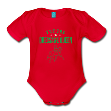 Load image into Gallery viewer, Future Dressage Queen Baby Bodysuit - red