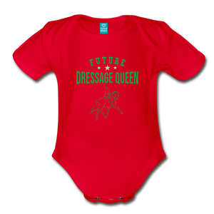 Future Dressage Queen Baby Bodysuit - red