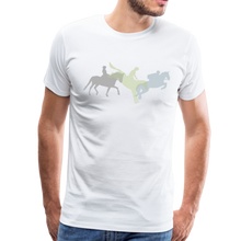Load image into Gallery viewer, Men's Shadowed Eventing T-Shirt - white