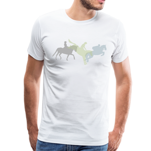 Men's Shadowed Eventing T-Shirt - white