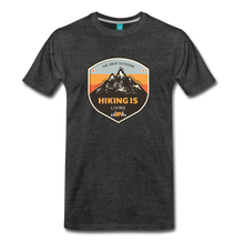 Load image into Gallery viewer, Men's Hiking T-Shirt - charcoal gray