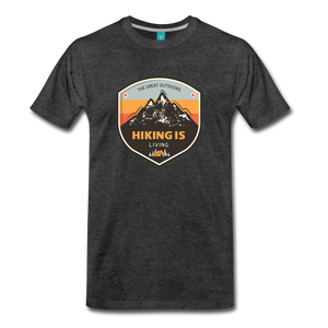 Men's Hiking T-Shirt - charcoal gray
