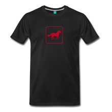 Load image into Gallery viewer, Men's Horse Icon T-Shirt - black
