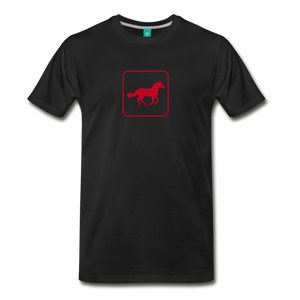 Men's Horse Icon T-Shirt - black