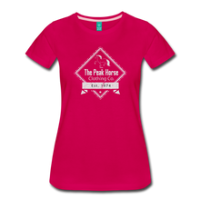 Load image into Gallery viewer, Women's The Peak Horse Diamond T-Shirt - dark pink
